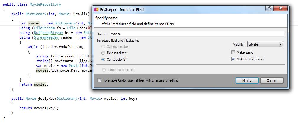 Introduce field