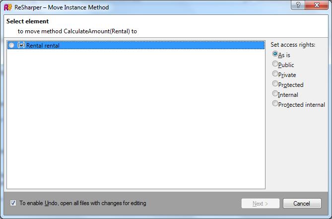 Move instance method